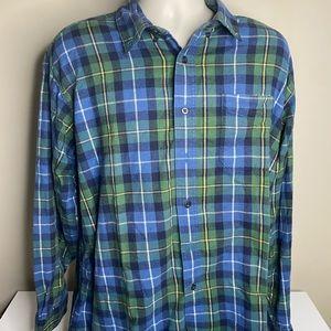 L.L. Bean flannel shirt men's size XL blue